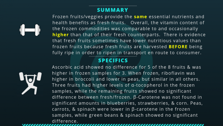 Frozen vs Fresh Produce