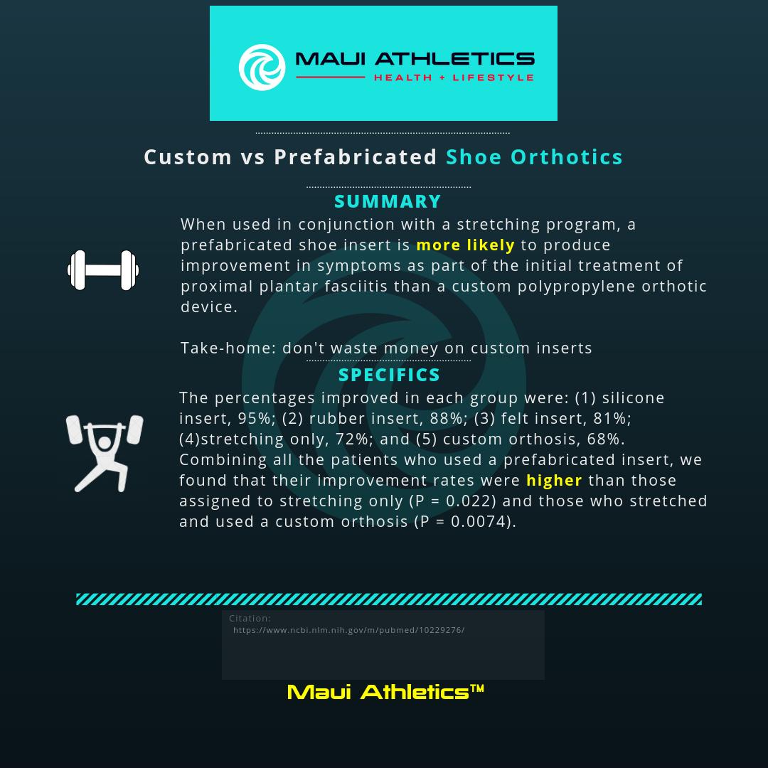 Custom vs Prefabricated Shoe Orthotics