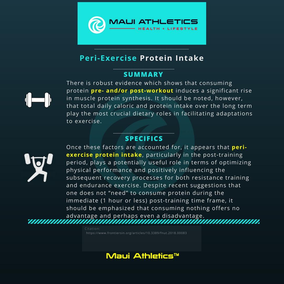 Peri-Workout Protein Intake