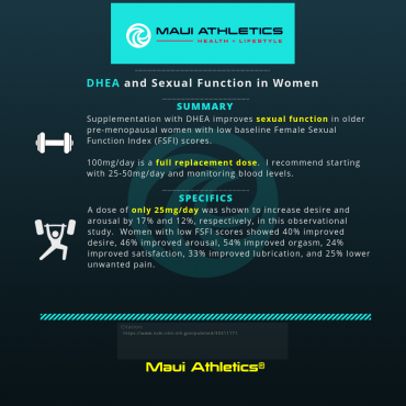 DHEA and Sexual Function in Women