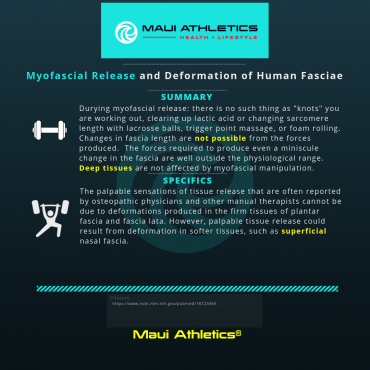 Myofascial Release and Deformation of Human Fasciae