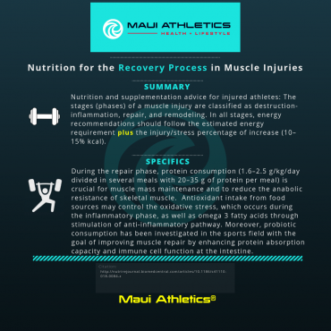 Nutrition for the Recovery Process in Muscle Injuries