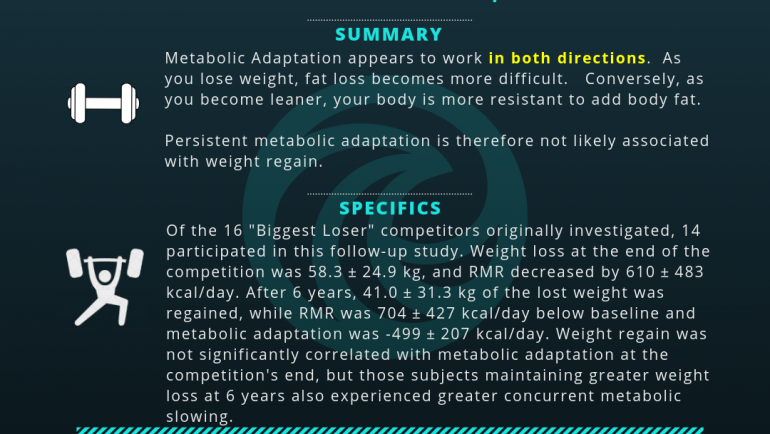 Persistent Metabolic Adaptation