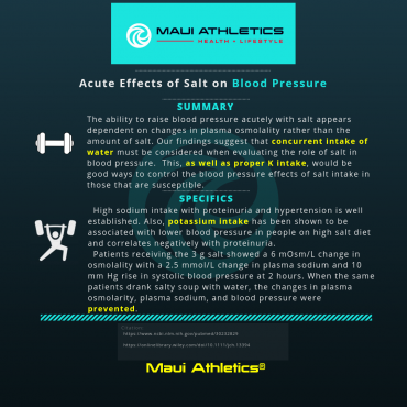 Salt Intake and Blood Pressure