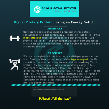 Higher Dietary Protein during an Energy Deficit