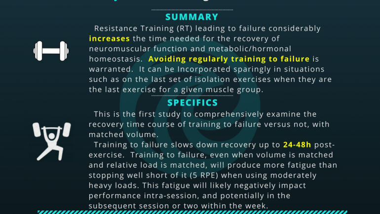 Training to Failure (Recovery)